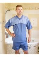 Piżama męska krótki rękaw z paskiem