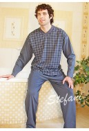 Piżama męska długi rękaw (serek)