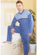 Piżama męska długi rękaw z paskiem