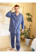 Piżama męska 3XL-4XL rozpinana z kołnierzem