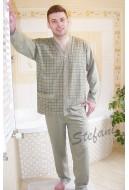 Piżama męska 3XL-4XLrozpinana-szal