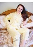 Piżama damska rozpinana z kołnierzem